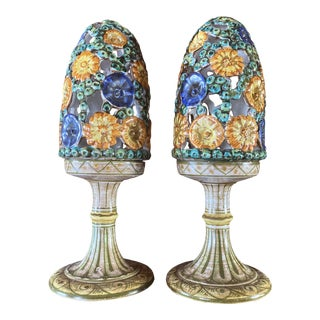 Vintage Meiselman Imports Reticulated Fairy Lamp - a Pair For Sale