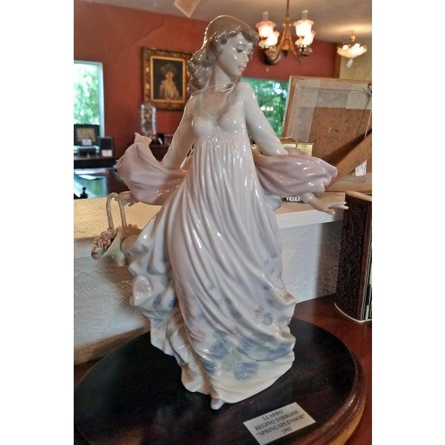 Lladro Lladro Spanish Porcelain Figurine of Spring Splendor (Retired) For Sale - Image 4 of 13