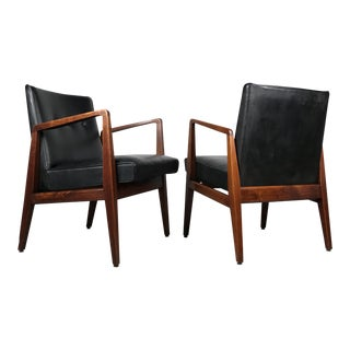 Mid-Century Modern Pair of Occasional Lounge Chairs by Jens Risom For Sale