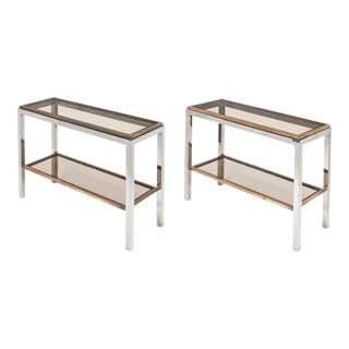 Willy Rizzo Console Tables - a Pair For Sale