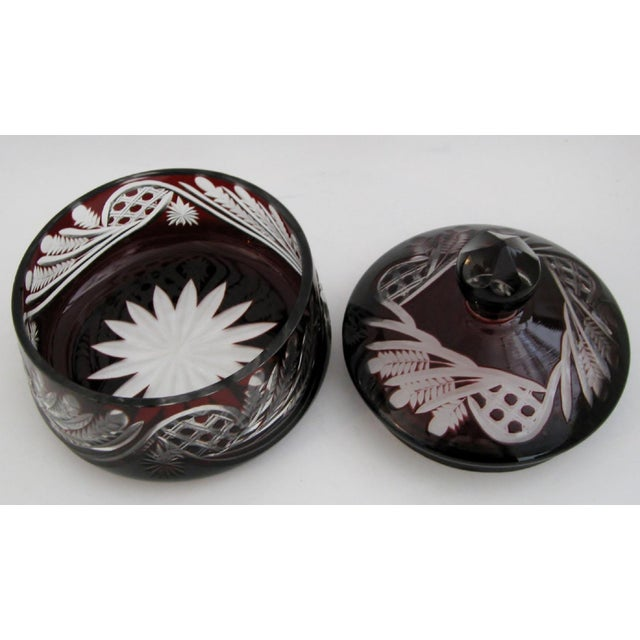 Bohemian Glass Bonbonniere For Sale In Los Angeles - Image 6 of 6