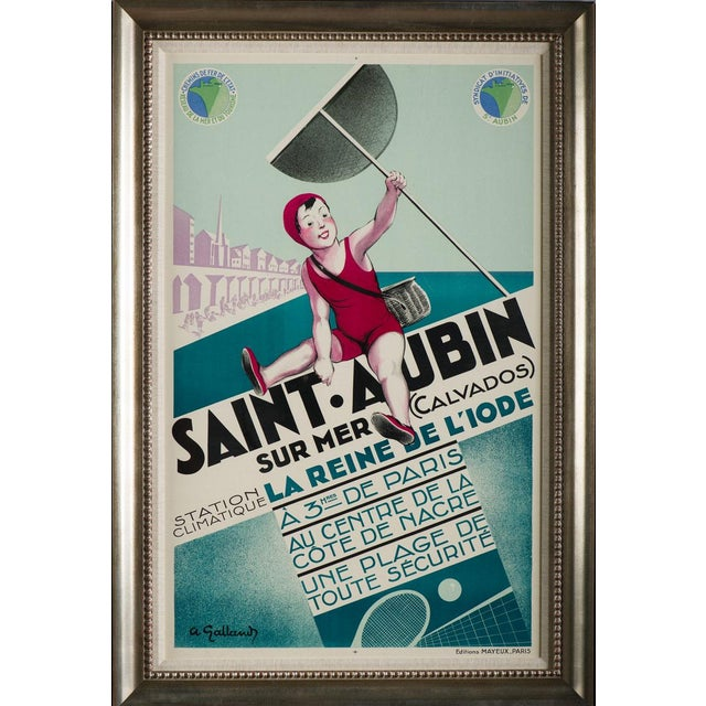 Saint Aubin Vintage Travel Poster - Image 2 of 3