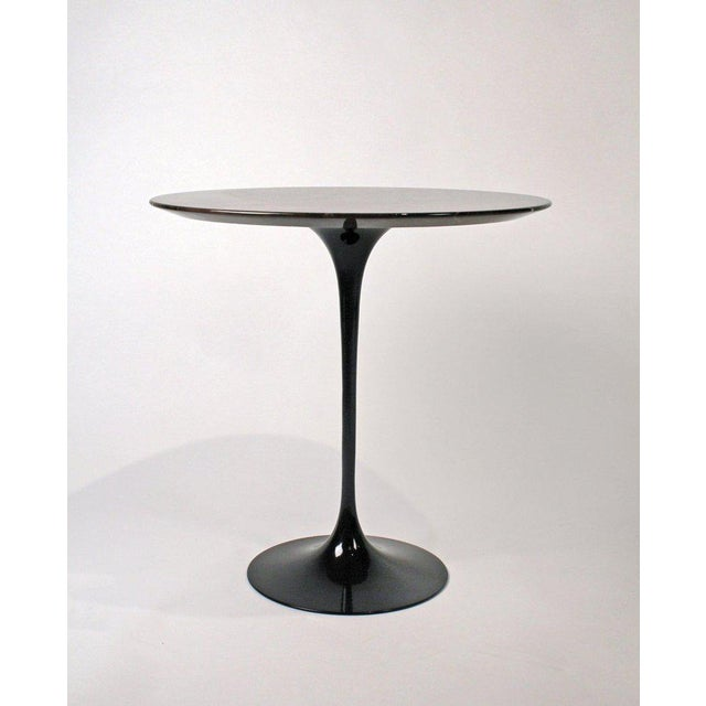 Late 20th Century Eero Saarinen Side Table for Knoll With Polished Espresso Marble Top For Sale - Image 5 of 5