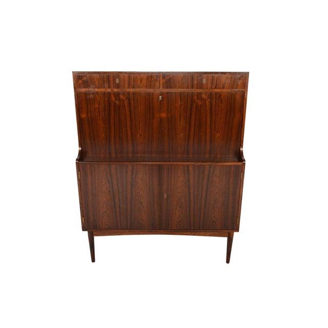 Danish Modern Rosewood Secretary Bar - Image 1 of 9