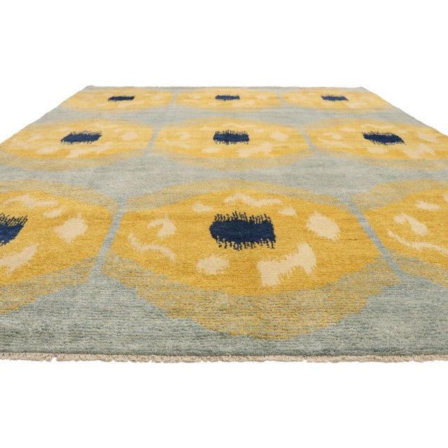 Moroccan Contemporary Moroccan Rug With Concentric Circles - 10'02 X 13'09 For Sale - Image 3 of 10