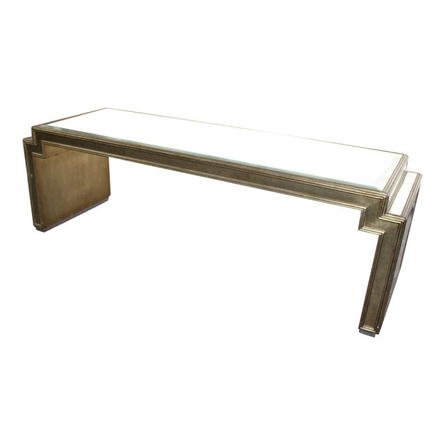 Vintage Mid-Century Mirrored Coffee Table For Sale