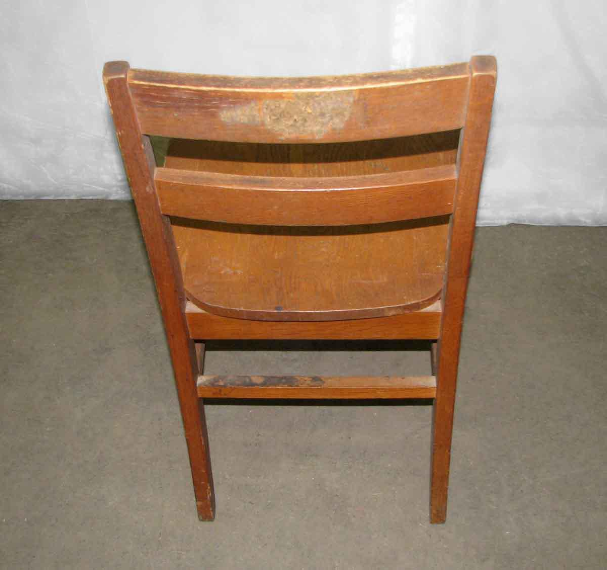 Old Maple Wooden Ladder Back School Chair   Image 2 Of 6