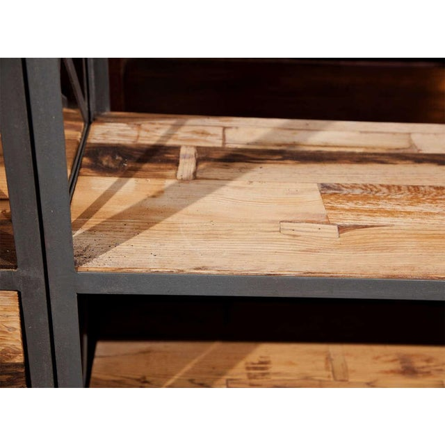 Industrial Wood & Metal Entertainment Center - Image 4 of 10