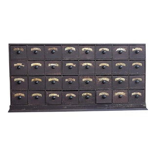 19th Century English Pharmacy Drawers For Sale