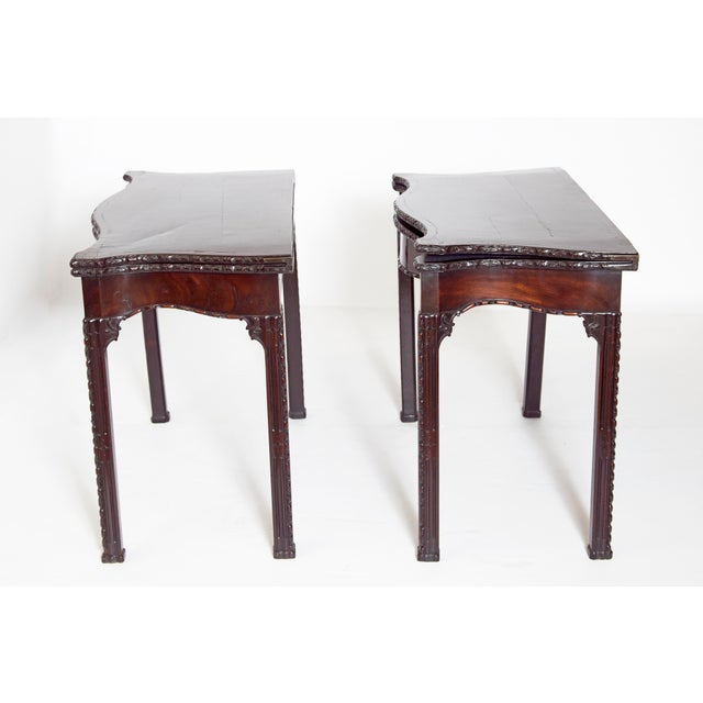 Georgian Pair of 18th Century George III Mahogany Card Tables For Sale - Image 3 of 13