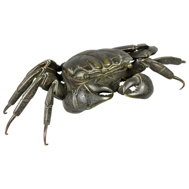 Japanese Meiji Articulated Bronze Crab For Sale - Image 10 of 10