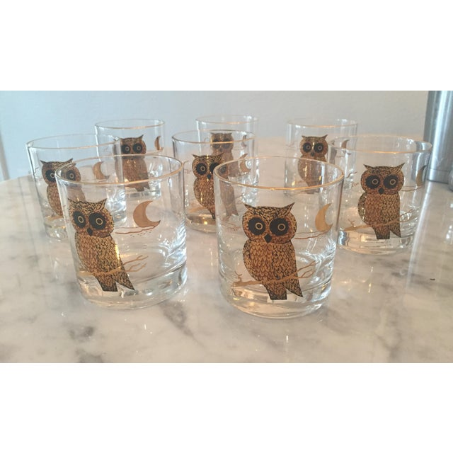This is a vintage, yet never been used, Couroc of Monterey brand owl glasses. Found sealed in their original box from...