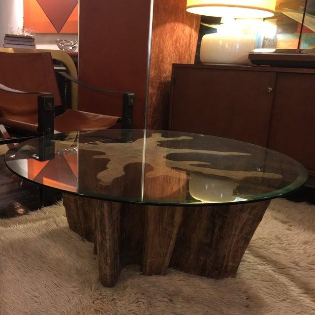 Vintage Cypress Wood Coffee Table - Image 9 of 9