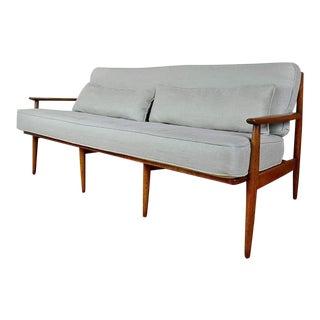 Vintage Gray Baumritter Sofa For Sale