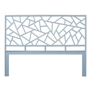 Tiffany Headboard King - Blue For Sale