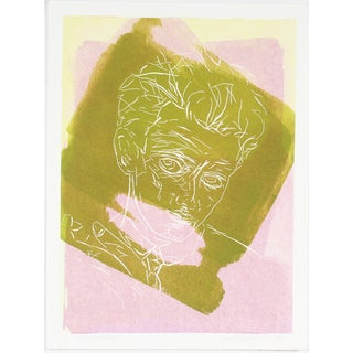 """Egon Schiele"" Pink & Green Print by Rob Delamater For Sale"