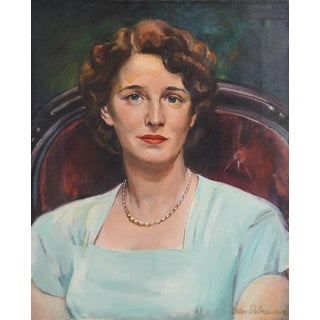 1948 Unframed Oil Portrait