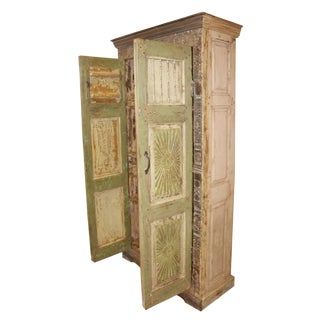 1920's Antique Rustic Armoire For Sale