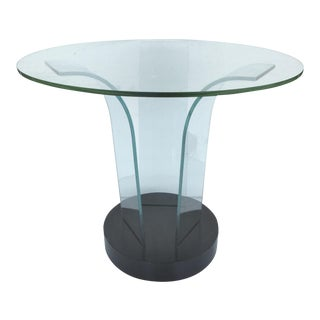 Mid-Century Modern Modernage Bent Glass Side Table For Sale