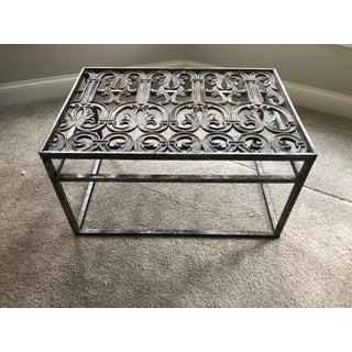 19th Century Architectural Salvaged Forged Iron Grate Coffee Table Preview