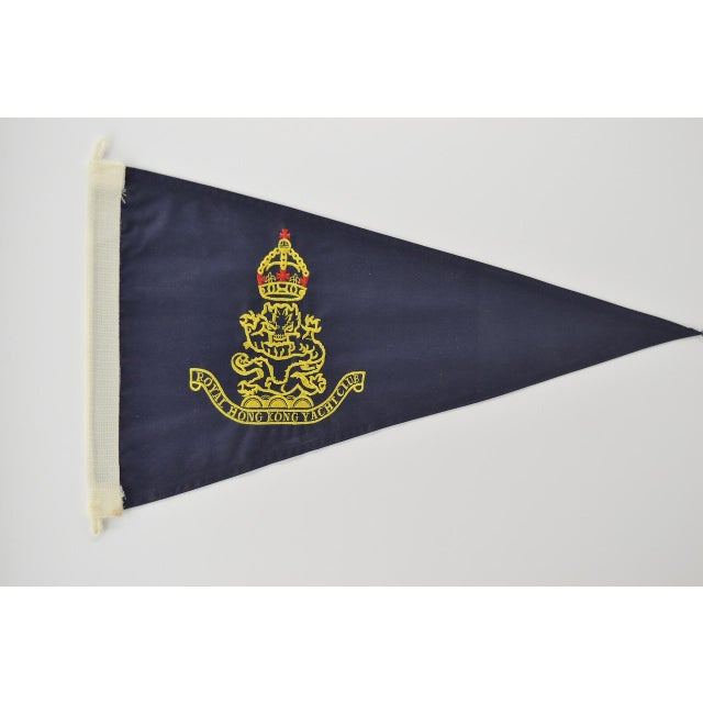 Nautical Vintage Royal Hong Kong Yacht Club Burgee, Flag, Pennant For Sale - Image 3 of 4