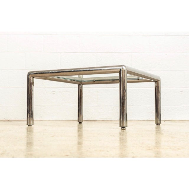 1960s Mid Century John Mascheroni Tubo Glass and Chrome Coffee Table 1970s For Sale - Image 5 of 10