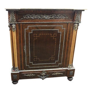 Empire Style Marble Top Cabinet For Sale