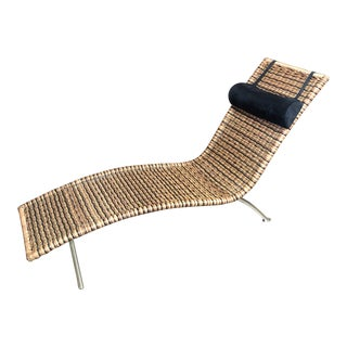 Interior Wicker Chaise Lounge For Sale