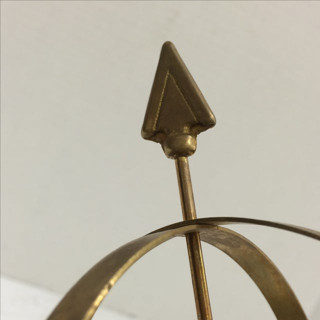 Vintage Brass and Marble Armillary - Image 10 of 10