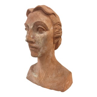 Vintage Plaster Female Bust For Sale