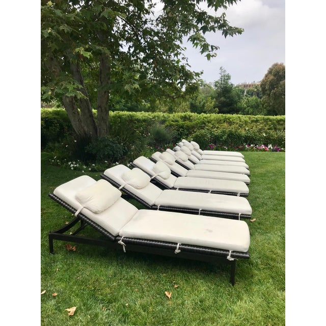 Contemporary McGuire Antalya Chaise Lounges-a Pair For Sale - Image 3 of 13