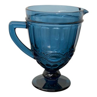 "Moser Blue ""Eye Winker"" Pitcher For Sale"