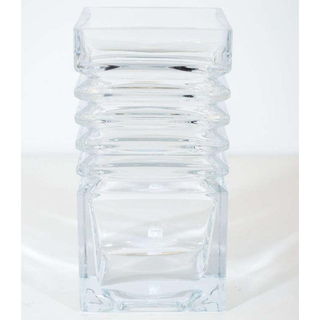Mid-Century Modern Mid-Century Modernist Stepped Glass Vase by Harmoska For Sale - Image 3 of 9