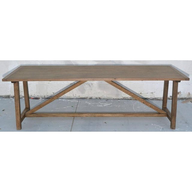 Arts & Crafts Rustic Extendable Dining Table in Vintage Oak For Sale - Image 3 of 11