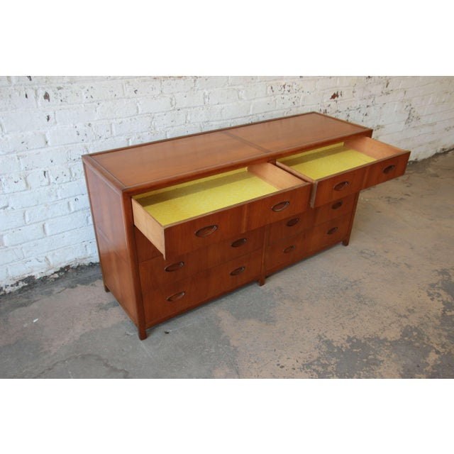 Wood Michael Taylor for Baker New World Collection Eight-Drawer Dresser or Chest For Sale - Image 7 of 11