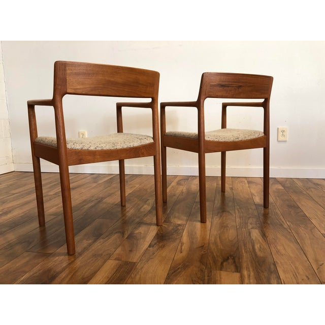 1960s Mid-Century Norgaard Teak Arm Chairs, Made in Denmark, a Pair For Sale - Image 5 of 13