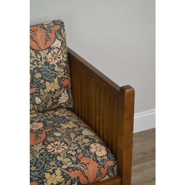 Stickley Mission Collection Oak Spindle Cube Chair For Sale - Image 12 of 13