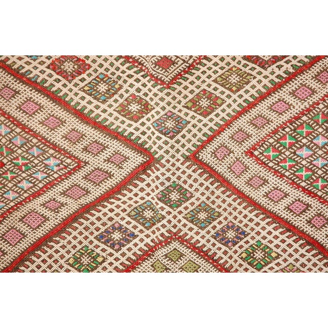 Mid 20th Century Vintage Zaiane Moroccan Tribal Runner Rug, Circa 1960 For Sale - Image 5 of 7