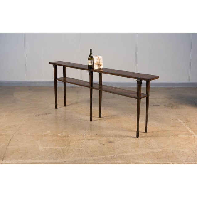 Boulevard Console Table,Burnt Brown Oak For Sale In Raleigh - Image 6 of 7