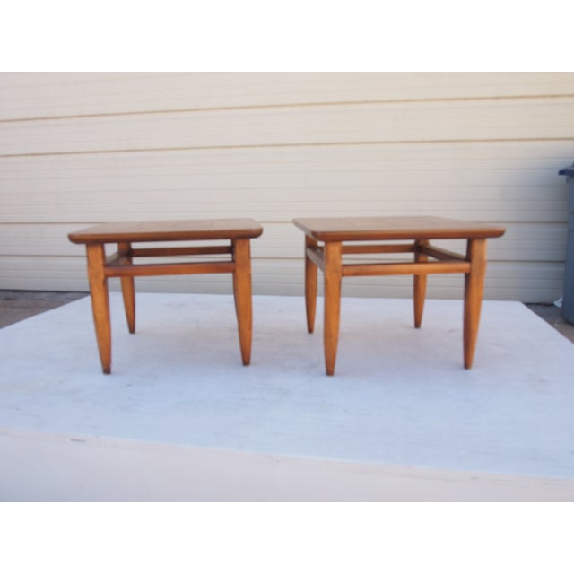 Parquet Lane Side Tables- A Pair - Image 3 of 4
