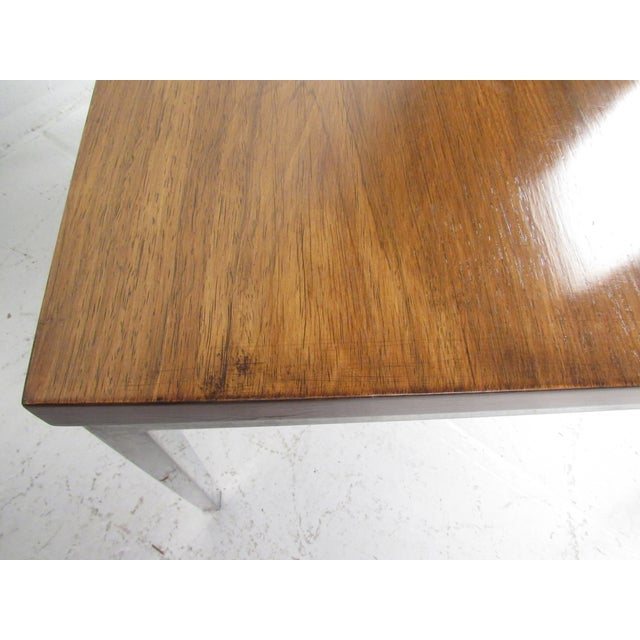 Brown Milo Baughman Style Coffee Table For Sale - Image 8 of 12