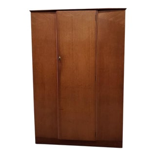 Vintage Mid Century Oak Armoire by Lebus C.1960s For Sale