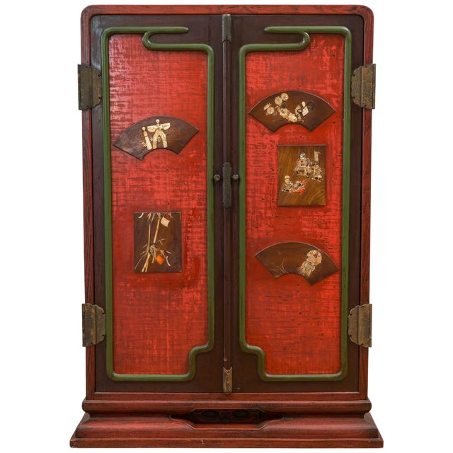 Meiji Period Japanese Ten-Drawer Cabinet For Sale
