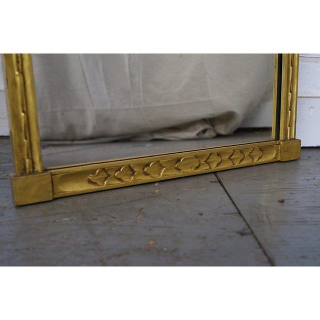 Antique Gilt Wood Impressionist Wall Mirror For Sale - Image 5 of 10