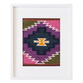 Peruvian Wall Hanging / Placemat in Violet, Pink, Olive, Yellow Preview