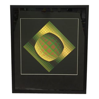 Mid-Century Modern Victor Vasarely Vega Zett Heliogravure