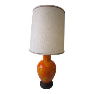 1960s Vintage Mid-Century Modern Ceramic Lamp For Sale