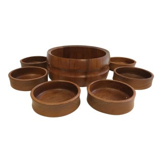 Jens Quistgaard for Dansk Teak Salad Bowls - Set of 9 For Sale