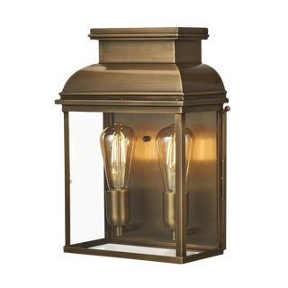 Old Bailey Brass Wall Lantern Large For Sale
