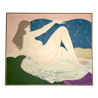 "1967 ""Odalisque"" Acrylic Painting by David Hickman For Sale"